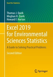 Excel 2019 for Environmental Sciences Statistics: A Guide to Solving Practical Problems, 2nd Edition